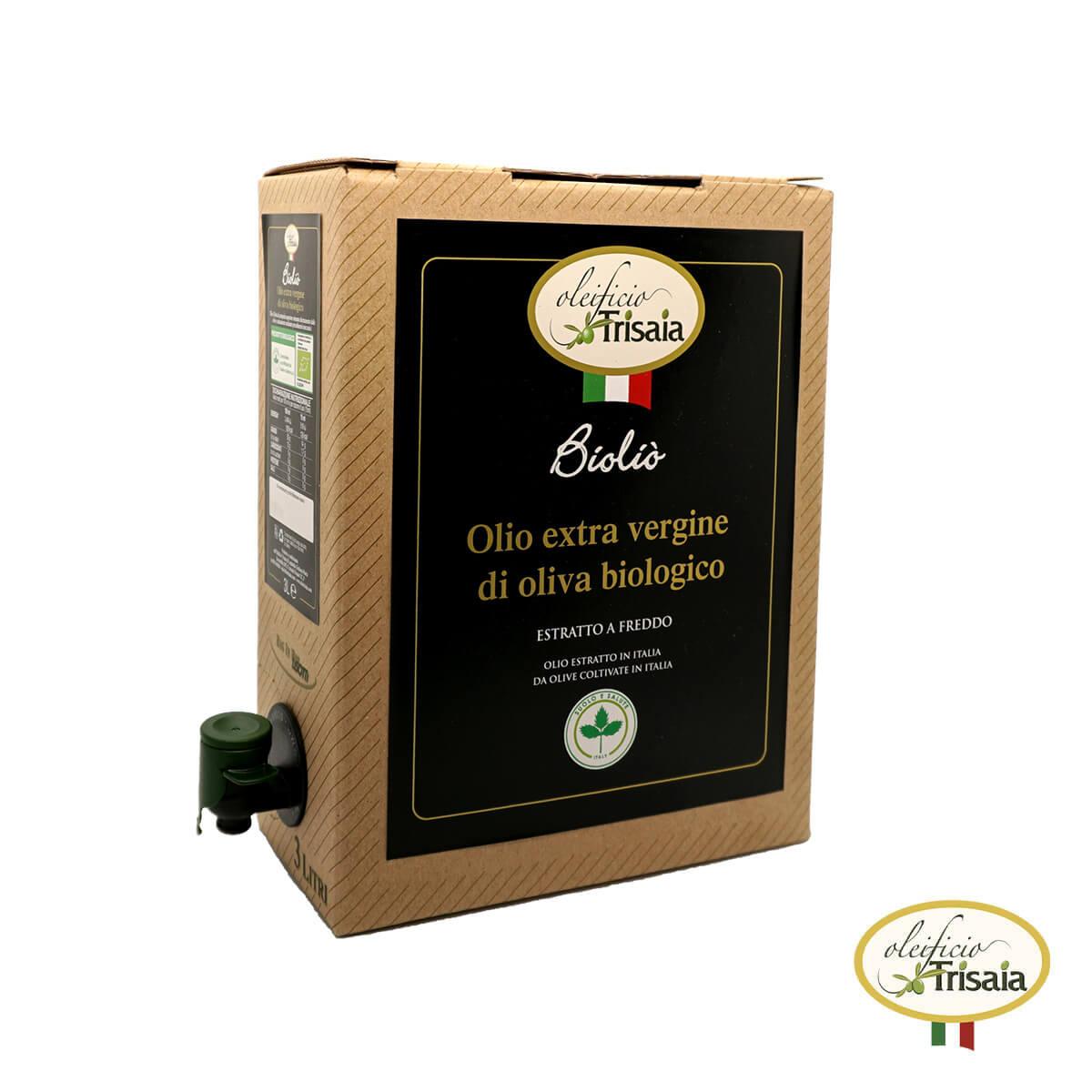 Olio EVO Extravergine di Oliva Biologico - Bioliò Bag in Box 3 litri