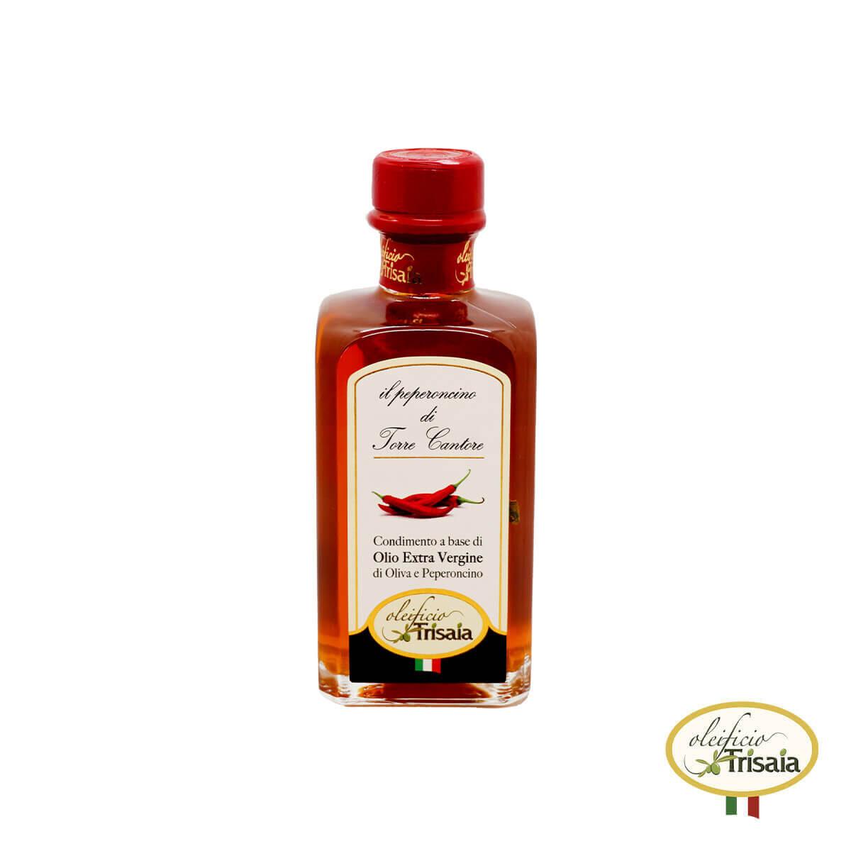 L'olio EVO Extravergine di Oliva aromatizzato al peperoncino piccante